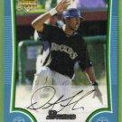 2009 Bowman Baseball Blue Rookie Dexter Fowler (Rockies) #199 (#'d 486/500)