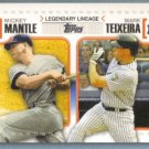 2010 Topps Baseball Legendary Lineage Babe Ruth (Yankees) & Ryan Howard (Phillies) #LL45