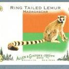 2010 Topps Allen & Ginter Baseball Mini National Animals Ring Tailed Lemur #NA46