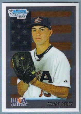 2010 Bowman Draft Picks & Prospects Chrome 1st Bowman Card USA Felipe Perez (Team USA) #BDPP106