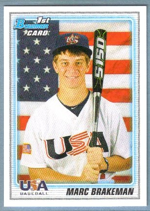 2010 Bowman Draft Picks & Prospects 1st Bowman Card USA Marc Brakeman (Team USA) #BDPP94