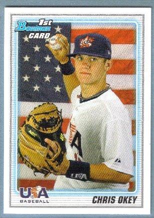 2010 Bowman Draft Picks & Prospects 1st Bowman Card USA Chris Okey (Team USA) #BDPP103