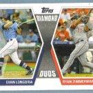 2011 Topps Baseball Diamond Duos Evan Longoria (Rays) & Ryan Zimmerman (Nationals) #DD-LZ