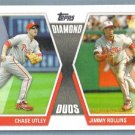 2011 Topps Baseball Diamond Duos Chase Utley (Phillies) & Jimmy Rollins (Phillies) #DD-UR