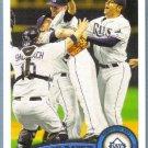2011 Topps Baseball Tampa Bay Rays Team (Rays) #52