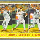 """2011 Topps Heritage Baseball """"Doc Shows Perfect Form"""" Roy Halladay (Phillies) #312"""