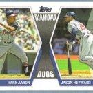 2011 Topps Baseball Diamond Duos Hank Aaron & Jason Heyward (Braves) #DD29
