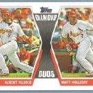 2011 Topps Baseball Diamond Duos Albert Pujols & Matt Holliday (Cardinals) #DD28
