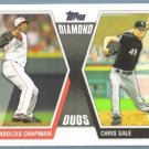 2011 Topps Baseball Diamond Duos Aroldis Chapman (Reds) & Chris Sale (White Sox) #DD13