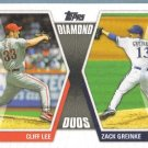 2011 Topps Baseball Diamond Duos Cliff Lee (Phillies) & Zack Greinke (Brewers) #DD3