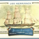 """2011 Topps Allen & Ginter Baseball """"Floating Fortresses"""" USS Merrimack #FF9"""