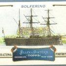 "2011 Topps Allen & Ginter Baseball ""Floating Fortresses"" Solferino #FF14"