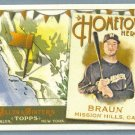 2011 Topps Allen & Ginter Baseball Hometown Heroes Ryan Braun (Brewers) #HH10