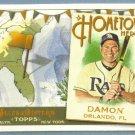 2011 Topps Allen & Ginter Baseball Hometown Heroes Johnny Damon (Rays) #HH68