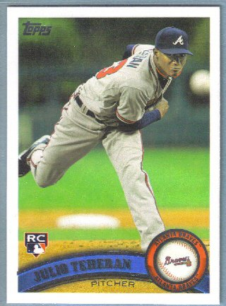 2011 Topps Update Baseball Rookie Randall Delgado (Braves) #US22