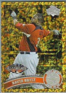 2011 Topps Update Baseball COGNAC Gold Sparkle All Star Home Run Derby David Ortiz (Red Sox) #US78