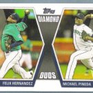2011 Topps Update Baseball Diamond Duos Felix Hernandez & Michael Pineda (Mariners) #DD1