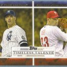 2012 Topps Baseball Timeless Talents Andy Pettitte (Yankees) & Cliff Lee (Phillies) #TT-12