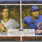 2012 Topps Baseball Timeless Talents Luis Aparicio (White Sox) & Starlin Castro (Cubs) #TT-22