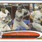 2012 Topps Baseball League Leaders Alex Rodriguez / Jim Thome / Jason Giambi #91