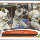2012 Topps Baseball League Leaders Jose Bautista / Curtis Granderson / Mark Teixeira #302