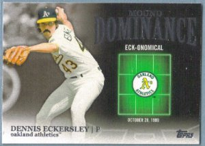 2012 Topps Baseball Mound Dominance Dennis Eckersley (Athletics) #MD-5