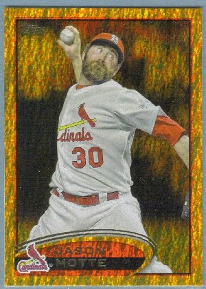 2012 Topps Baseball Gold Sparkle Jason Motte (Cardinals) #434