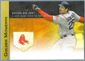 2012 Topps Baseball Golden Moments Adrian Gonzalez (Red Sox) #GM-40