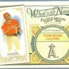 2012 Topps Allen & Ginter What's In A Name Torii Hunter (Angels) #WIN11