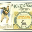 2012 Topps Allen & Ginter What's In A Name Mike Stanton (Marlins) #WIN23