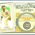 2012 Topps Allen & Ginter What's In A Name Starlin Castro (Cubs) #WIN27