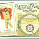 2012 Topps Allen & Ginter What's In A Name Elvis Andrus (Rangers) #WIN28
