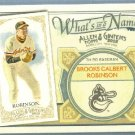 2012 Topps Allen & Ginter What's In A Name Brooks Robinson (Orioles) #WIN35