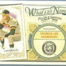 2012 Topps Allen & Ginter What's In A Name Sparky Anderson (Tigers) #WIN66