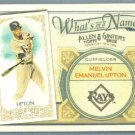 2012 Topps Allen & Ginter What's In A Name B.J. Upton (Rays) #WIN76