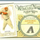 2012 Topps Allen & Ginter What's In A Name Justin Upton (Diamondbacks) #WIN97