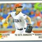 2013 Topps Heritage Baseball Memorable Moments Yu Darvish (Rangers) #MM-YU