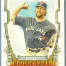 2013 Topps Allen & Ginter Across The Years R.A. Dickey (Blue Jays) #ATY-RAD