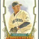 2013 Topps Allen & Ginter Across The Years Felix Hernandez (Mariners) #ATY-FH