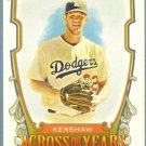 2013 Topps Allen & Ginter Across The Years Clayton Kershaw (Dodgers) #ATY-CKW