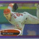 2012 Topps Chrome Baseball Purple Refractor C.J. Wilson (Angels) #8