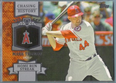 2013 Topps Baseball Chasing History Mark Trumbo (Angels) #CH-78