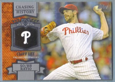 2013 Topps Baseball Chasing History Cliff Lee (Phillies) #CH-81
