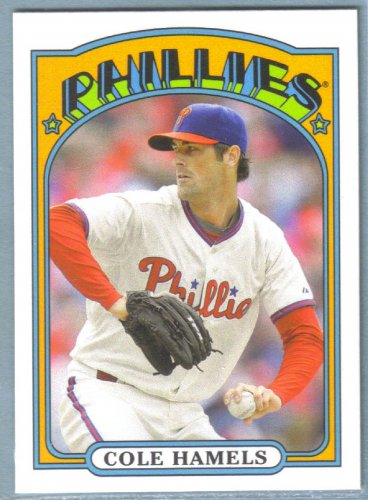 2013 Topps Baseball Mini Retro 1972 Cole Hamels (Phillies) #TM-92