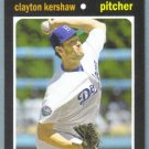 2013 Topps Update & Highlights Mini 1971 Retro Clayton Kershaw (Dodgers) #TM-15