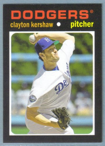 2013 Topps Update & Highlights Mini 1971 Retro Clayton Kershaw (Dodgers) #TM-15