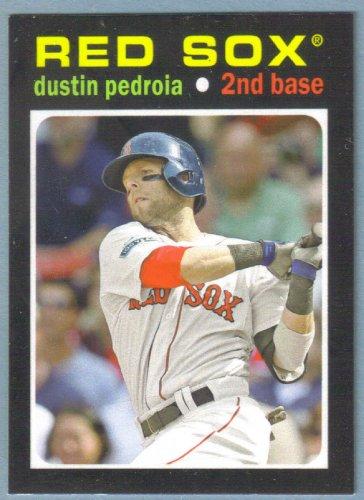 2013 Topps Update & Highlights Mini 1971 Retro Dustin Pedroia (Red Sox) TM-19