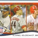 2014 Topps Baseball Paul Goldschmidt / Freddie Freeman / Jay Bruce LL #143