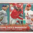 2015 Topps Baseball League Leaders Clayton Kershaw / Johnny Cueto / Adam Wainwright #61
