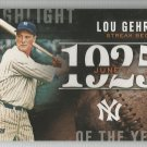 2015 Topps Highlight of the Year 1925 Lou Gehrig (Yankees) #H-1